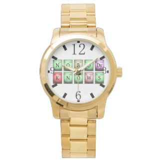 nobody knows in chemical elements wrist watch
