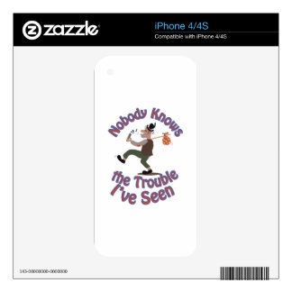Nobody Knows iPhone 4S Decal