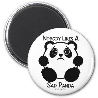 Nobody Likes A Sad Panda 2 Inch Round Magnet
