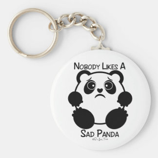 Nobody Likes A Sad Panda Keychain