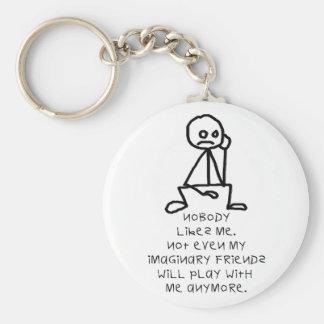 Nobody likes me basic round button keychain