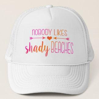 Nobody Likes Shady Beaches | Ombre Pink Orange Hat