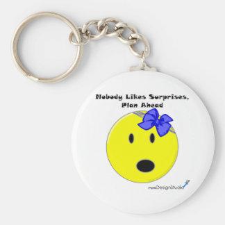 Nobody Likes Surprises Basic Round Button Keychain