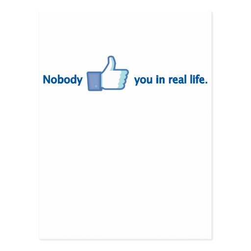 Nobody likes you postcard