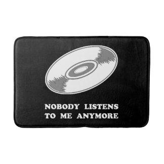 Nobody Listens Vinyl Bath Mat