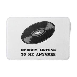 Nobody Listens Vinyl Bathroom Mat