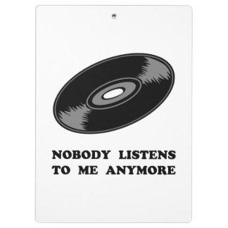 Nobody Listens Vinyl Clipboard