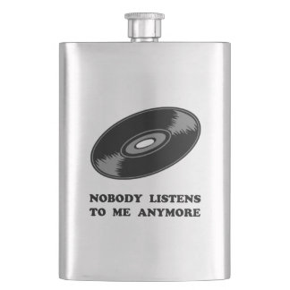Nobody Listens Vinyl Flask