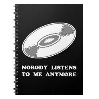 Nobody Listens Vinyl Notebook