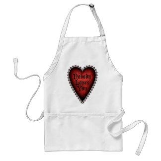 Nobody Loves You Gothic Valentine Adult Apron