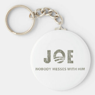 Nobody Messes With Him - Barack Obama Quote Keychain