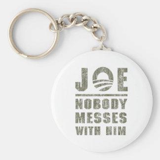 Nobody Messes With JOE BIDEN Keychain