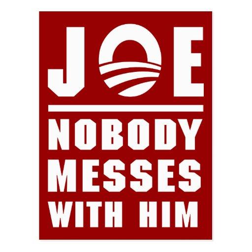 Nobody Messes With Joe Postcard