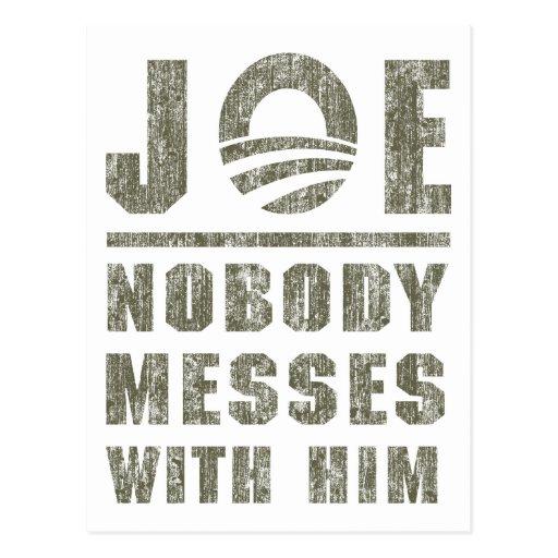 Nobody messes with JOE Postcards