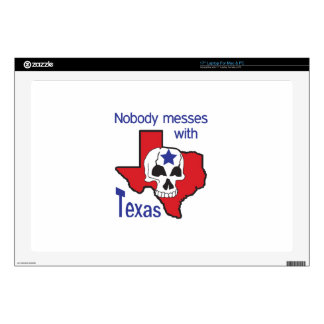Nobody Messes With Texas Decal For Laptop