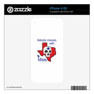 Nobody Messes With Texas Decal For The iPhone 4