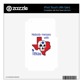 Nobody Messes With Texas Skin For iPod Touch 4G