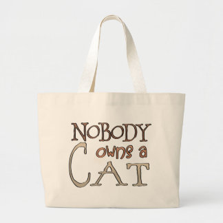 Nobody owes a Cat Canvas Bags