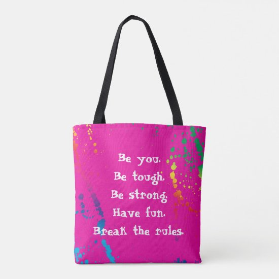 [Nobody Remembers Good Girl] Paint Splatter Pink Tote Bag