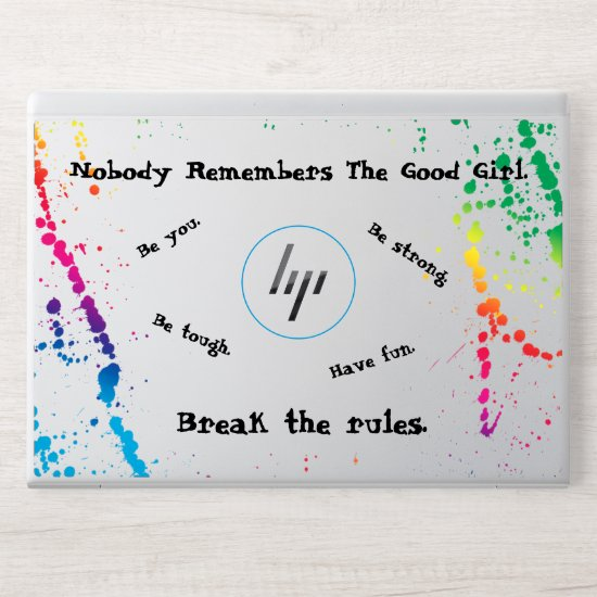[Nobody Remembers The Good Girl] Paint Splatter HP Laptop Skin