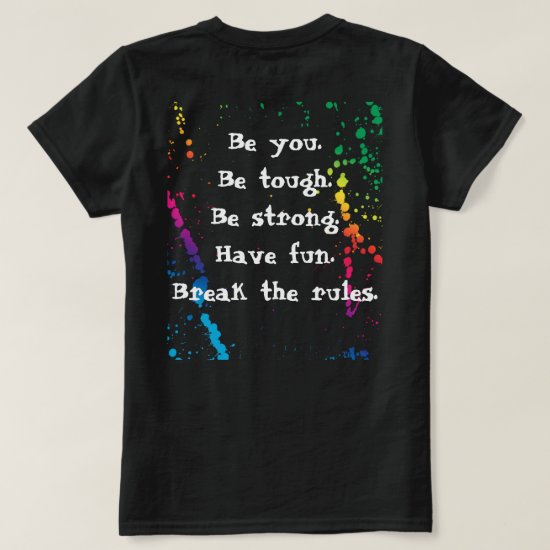 [Nobody Remembers The Good Girl] Paint Splatter T-Shirt