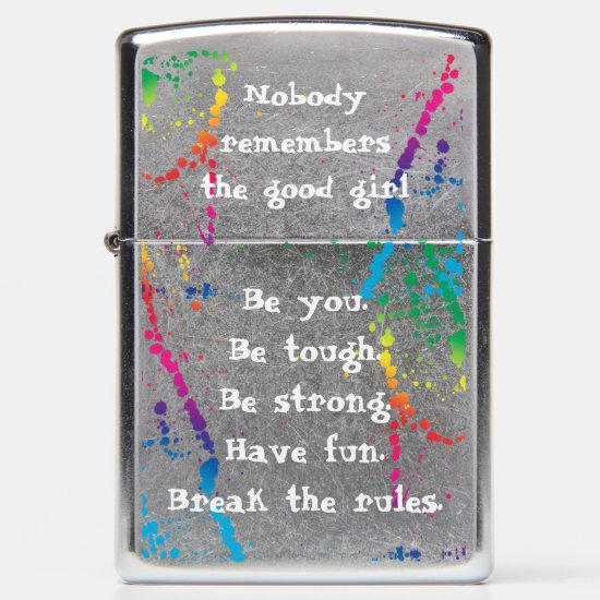 [Nobody Remembers The Good Girl] Paint Splatter Zippo Lighter