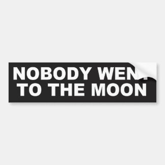 Nobody Went to the Moon FLAT EARTH BUMPER STICKER