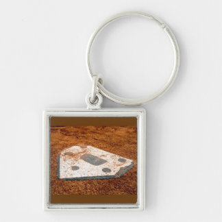 nobody's coming home Silver-Colored square keychain