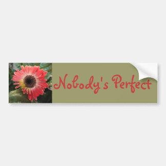 Nobody's Perfect Bumper Sticker