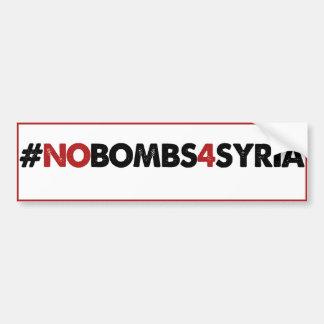 #NOBOMBS4SYRIA CAR BUMPER STICKER