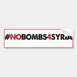 #NOBOMBS4SYRIA BUMPER STICKERS