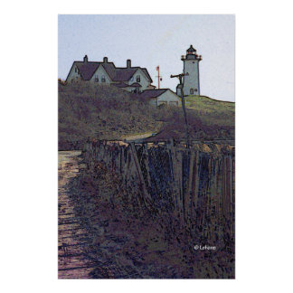 Nobska Lighthouse Art Poster