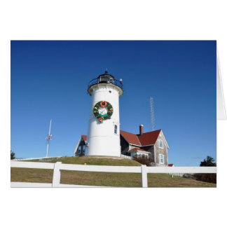 Nobska Lighthouse, Cape Cod Blank Notecard Stationery Note Card