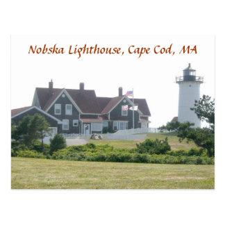 Nobska Lighthouse Cape Cod MA Postcard 1