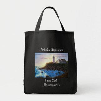 Nobska Lighthouse Cape Cod Mass Grocery Tote Bag