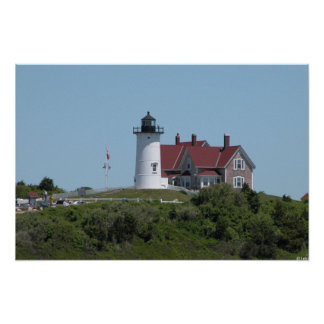 Nobska Lighthouse in Falmouth Poster