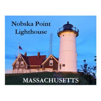 Nobska Point Lighthouse, Massachusetts Postcard
