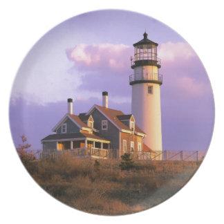 Nobska Point Lighthouse Melamine Plate