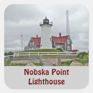 Nobska Point Lighthouse Series Square Sticker