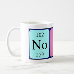 Nobu periodic table name mug