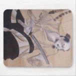 Nobufusa-Samurai del bizcocho borracho Alfombrillas De Raton
