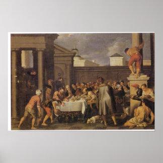 Noces de Cana 1633 de Les de Pedro Orrente Impresiones