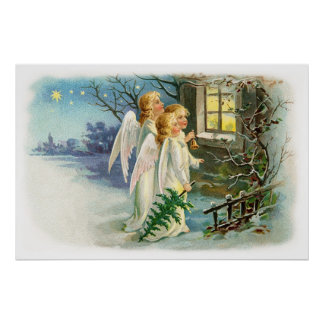 Noche angelical Carollers Impresiones