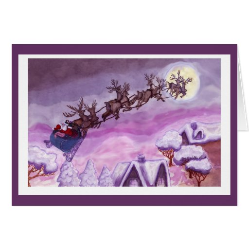 Noche antes de la tarjeta de Navidad