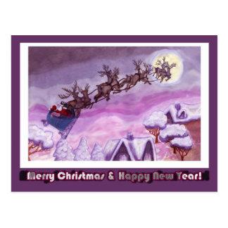 Noche antes del navidad Felices Navidad Tarjeta Postal