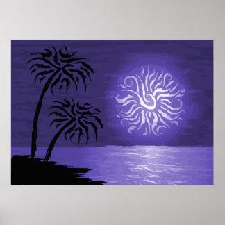 Noche asombrosa de la isla encendida impresiones