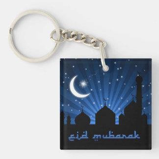 Noche azul de la mezquita de Eid - llavero de