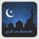 Noche azul de la mezquita de Eid - pegatina