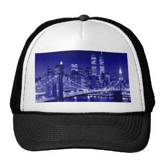 Noche azul de New York City Gorro