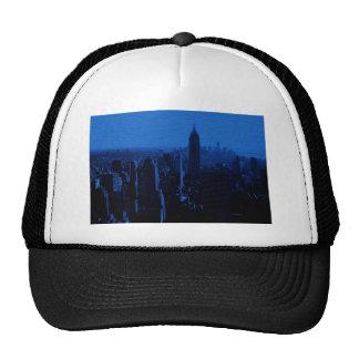 Noche azul de New York City Gorro De Camionero